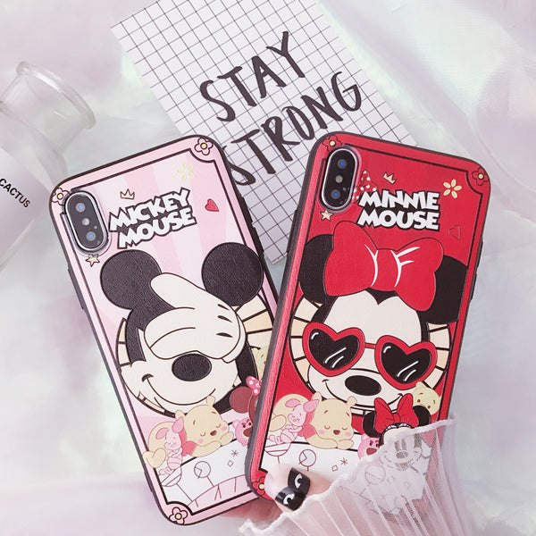 MICKYLO MINNILA CARTOON PAINTED APPLE IPHONE COVERS