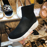 LUXE SEVEN DESIGN HIGH TOP SOCK TRAINERS - boopdo