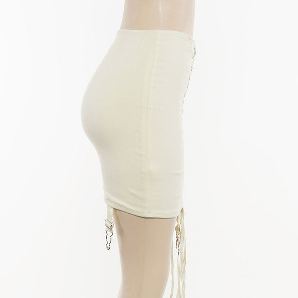 SHEMODA STRAPPY HIGH WAIST MINI SKIRT - boopdo