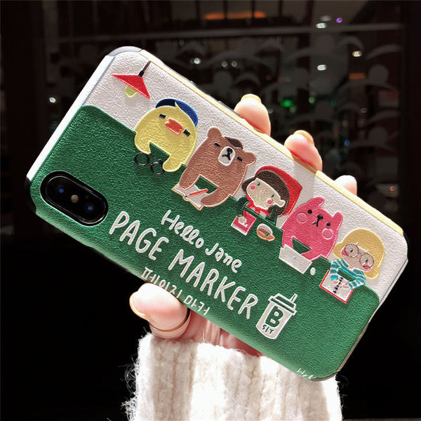 HELLO JANE PAGE MARKER CARTOON EMBOSSED APPLE IPHONE PHONE COVERS - boopdo