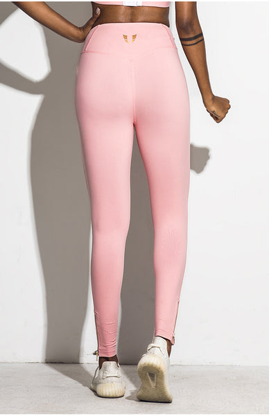 ELITE ABS HIGH WAIST LEGGINGS WITH FRONT ZIP UP DETAIL C18405 - boopdo