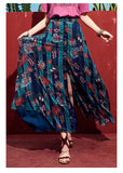 ARTKA FLORAL PRINT MAXI SKIRT WITH BUTTON FRONT