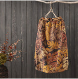 AUTUMN VINTAGE INSPIRED ORGANIC COTTON MIDI SKIRT