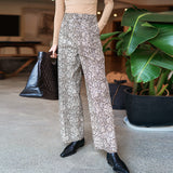 8GIRLS DESIGN SNAKE PRINT WIDE LEG TROUSERS - boopdo
