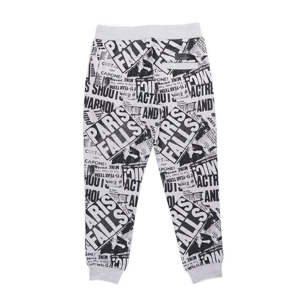 LA BLACK STREET NIGXA OLD SCHOOL TERRY JOGGER PANTS IN GRAY - boopdo