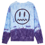 BEASTER ADVENTURE CLUB GHOST FACE EMOJI TIE DYED CREW NECK UNISEX SWEATSHIRT - boopdo