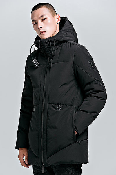 IRONIXY SPIDER DESIGN CASUAL THICK QUILTED HOODED COAT - boopdo