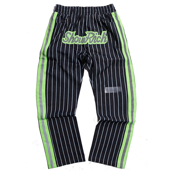 show rich made by abow life striped patch sweatpants