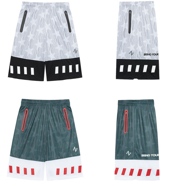 ZONOS BASKETBALL CONCEPT DESIGN BY ZONEID BREATHABLE CAMO PRINT TRAINING SHORTS
