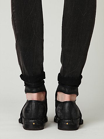 PROVAPERFETTO CUT OUT LEATHER STUTTED ANKLE BOOTS