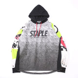 Staplex Pigeon Patch Chest Logo Pullover Hoodie In Contrast Color