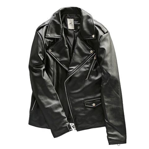 ALLO HORSE COTTON SYNTHETIC LEATHER BLACK JACKET