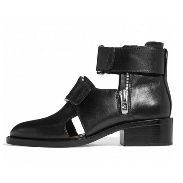 NADEXI THICK BOTTOM BAOTOU BLACK SANDALS