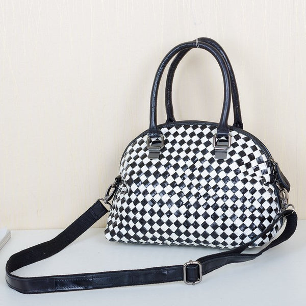 BOOPDO FRENCH DESIGN WOVEN CASUAL LEATHER HANDBAG - boopdo