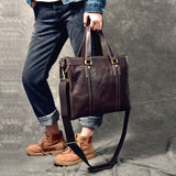 TWENTY FOUR STREET 14 INCHES TOTEX HANDMADE LEATHER MESSENGER BAG - boopdo