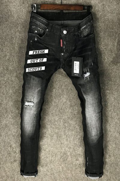 FRESH OUT OF SCOUTS DSQTWO WASHED DENIM JEAN PANTS - boopdo