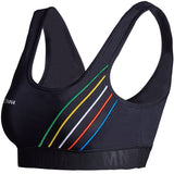 GYMNA TRAINING STRIPE DETAIL BRALET WITH LOGO - boopdo