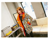 MAXMARTIN PADDED BLAZER IN GRAPHIC MULTI COLOR PATTERN M73809R74