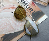 ULTIMATE JOURNAL LAYERED SPECTACLE SHAPE SUNGLASSES - boopdo