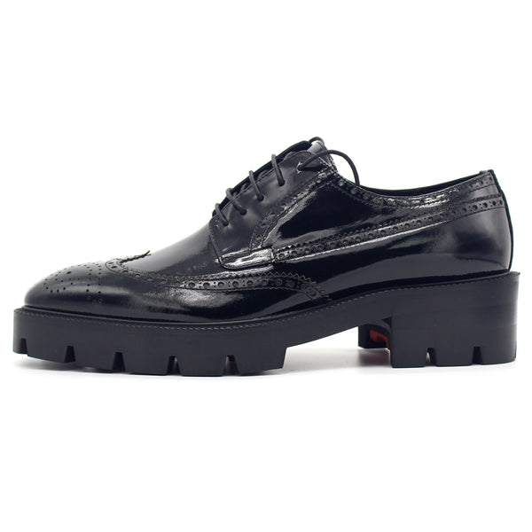 JINIWU VANGUARD BROCK STYLE PLATFORM SHOES IN BLACK - boopdo