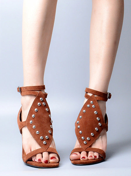 PROVAPERFETTO STUDDED BLOCK HEELED WEDGES - boopdo