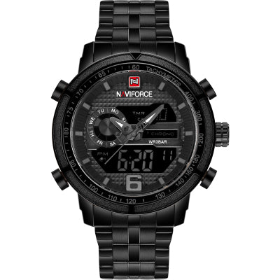 NAVIP FORCE LARGE DIAL CASE MULTI FUNCTION WATERPROOF WATCHES