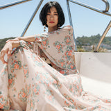 SINCE THEN CROPPED FLORAL PINT BLOUSE WITH MATCHING MAXI SKIRT - boopdo