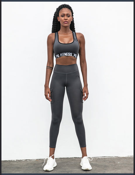 FIRM ABS SLINKY LEGGINGS WITH SIDE MILITARY POCKET DETAIL P1807608