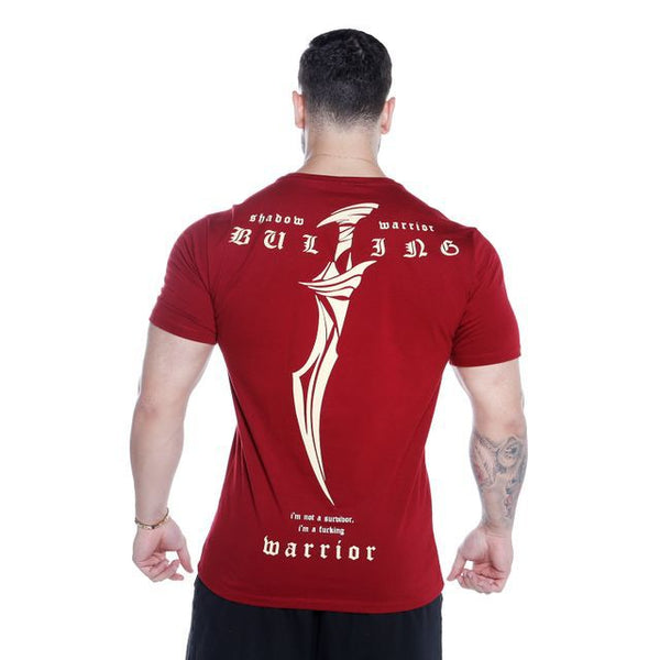 BODYBUILDING WARRIOR MUSCLE FITNESS TRAINING TIGHT FITTING T SHIRT - boopdo