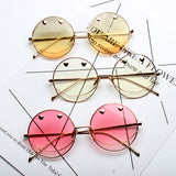 FLORIDA SUNSHINE METAL HEART DROPS TRANSPARENT SUNGLASSES - boopdo