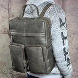 MACH MOMINS ZUMBO LARGE CAPACITY LEATHER BACKPACK