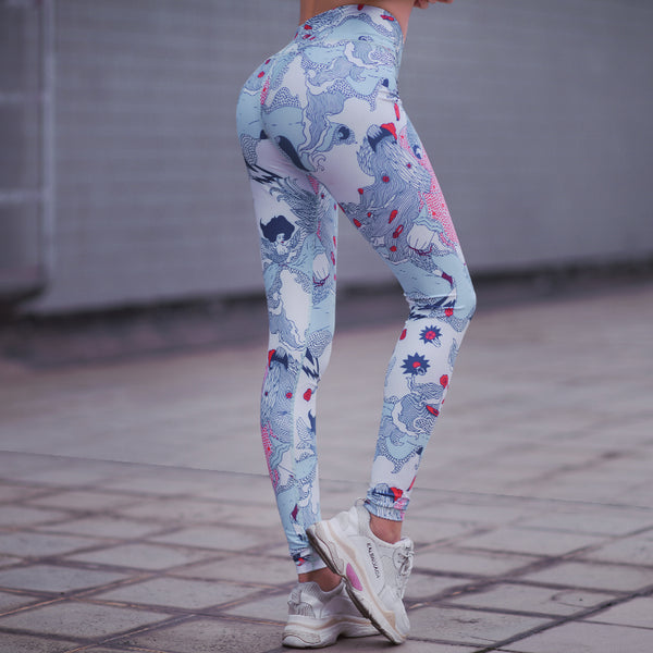 MIP JAPANESE FLORAL PRINT TRAINING LEGGINGS