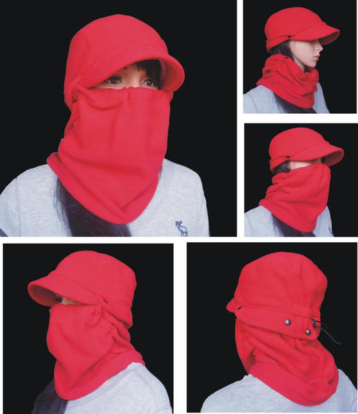 WINDPROOF DUCK MASK VELVET SKI CAPS - boopdo