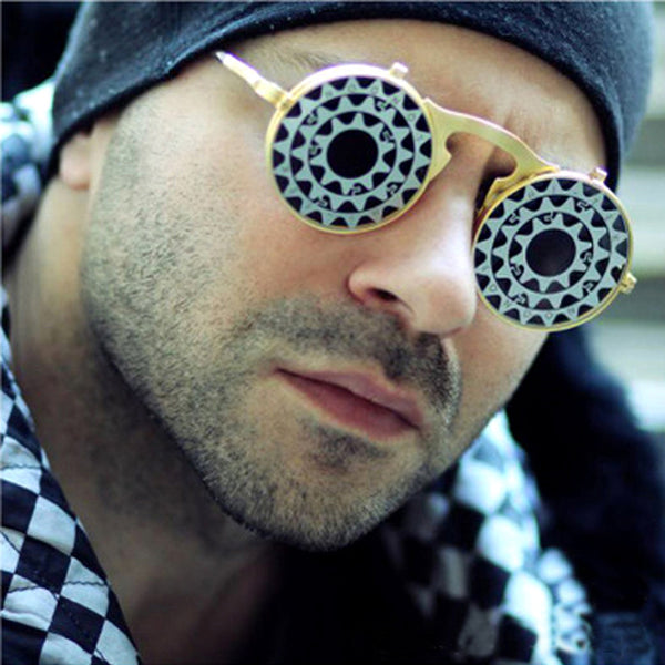 SISYPHUS STEAMPUNK FLIP DOUBLE LAYER URBAN WEAR SUNGLASSES - boopdo
