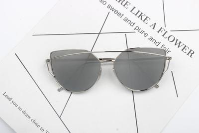 SPECTACLE SHAPE PILOT STYLE CURVED FRAME SUNGLASSES - boopdo