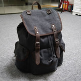 BRITISH CANVAS LARGE CAPACITY LITERARY RETRO TRAVEL BACKPACK - boopdo