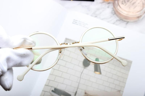 BOOPDO DESIGN CLEAR FRAME ROUND SUNGLASSES