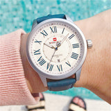 NAVIXFORCE LONGZ DESIGN RETRO BELT QUARTZ WATERPROOF WATCH - boopdo