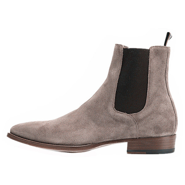 NADEMILI CRAFTSMAN WOLF GRAY CHELSEA ANKLE BOOTS