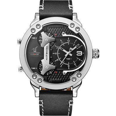 WAIDEX LARGE DIAL CASE QUARTZ WATERPROOF WATCH