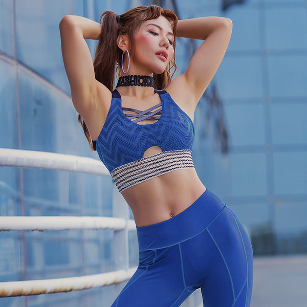 MIP STRAP MESH PANEL DETAIL SPORTS BRA