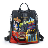 LETIFE SOUVENIRS FROM MEXICO EMBROIDERED CASUAL BACKPACK - boopdo