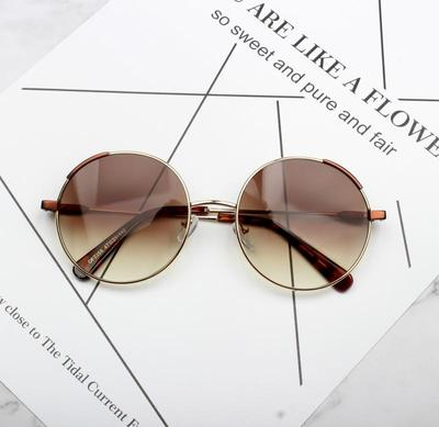 ZHENX AVANT GARDE ROUND FRAME LIGHT GRADIENT SUNGLASSES