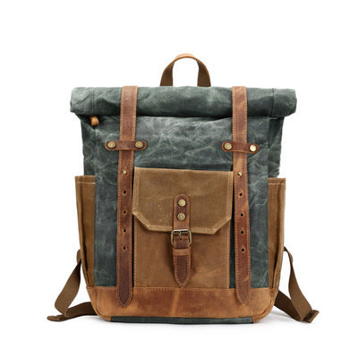 BRITISH CANVAS DESIGN ANTI SPLASH BUCKLE BACKPACK - boopdo