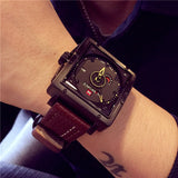 NAVYFORCE SQUARE HIGH GRADE OUTDOOR PU LEATHER BELT WATCHES - boopdo