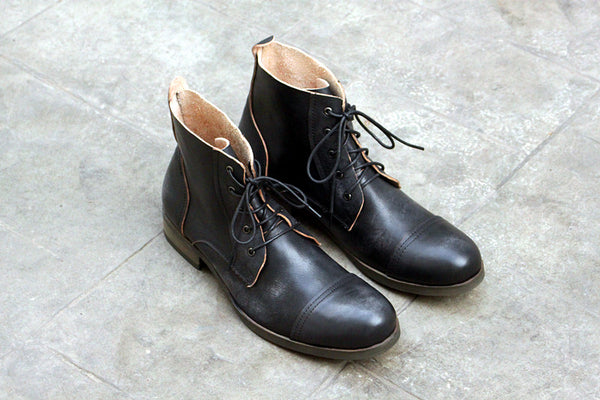 REDUPO ADMIRARI LONDONIST DESIGN MID ANKLE LEATHER BOOTS - boopdo
