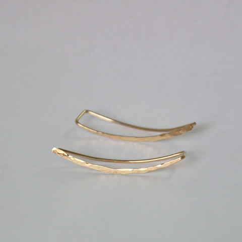 BOOPDO DESIGN STERLING SILVER GOLD PLATED EAR CLIMBER