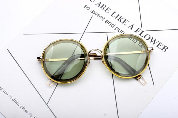 JELLY OVAL RETRO ROUND FRAME SUNGLASSES