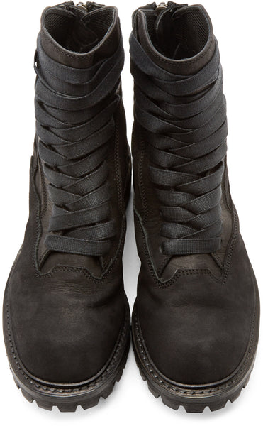 LIBETTER MARTIX RETRO THICK SOLED VELVET FAUX LEATHER BOOTS - boopdo