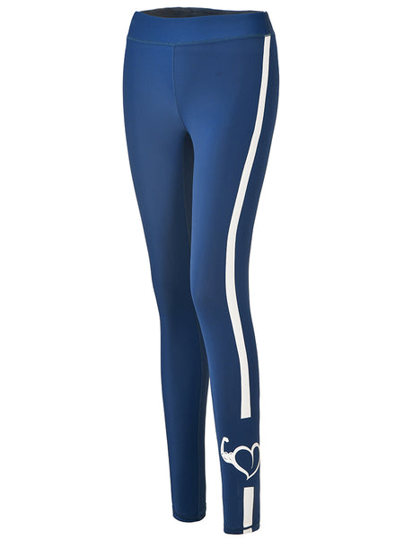 MIP SIDE TAPED STRIPE LEGGINGS IN BLUE - boopdo